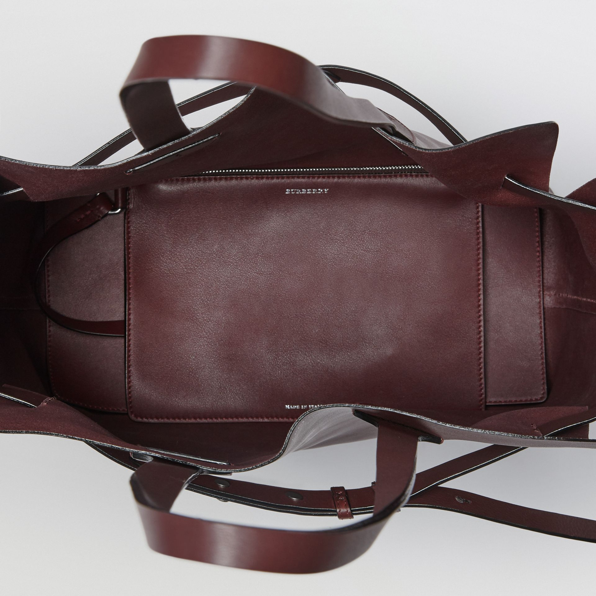 The Medium Soft Leather Belt Bag in Deep Claret - Women | Burberry United Kingdom - gallery image 3