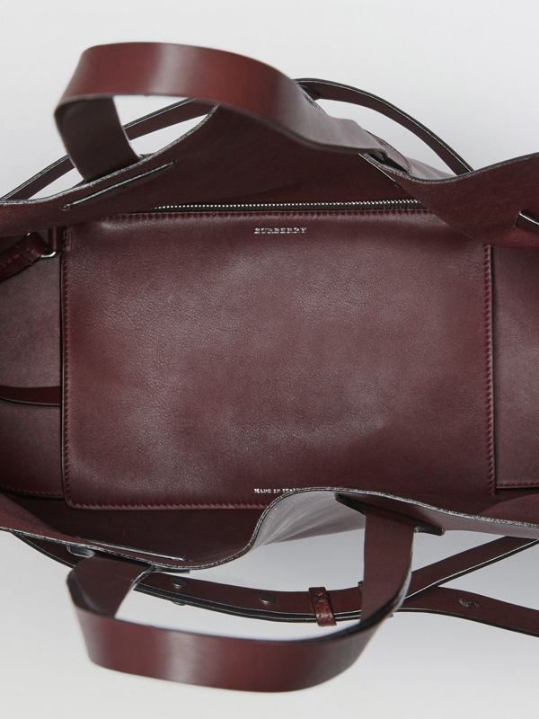 The Medium Soft Leather Belt Bag in Deep Claret - Women | Burberry - cell image 3