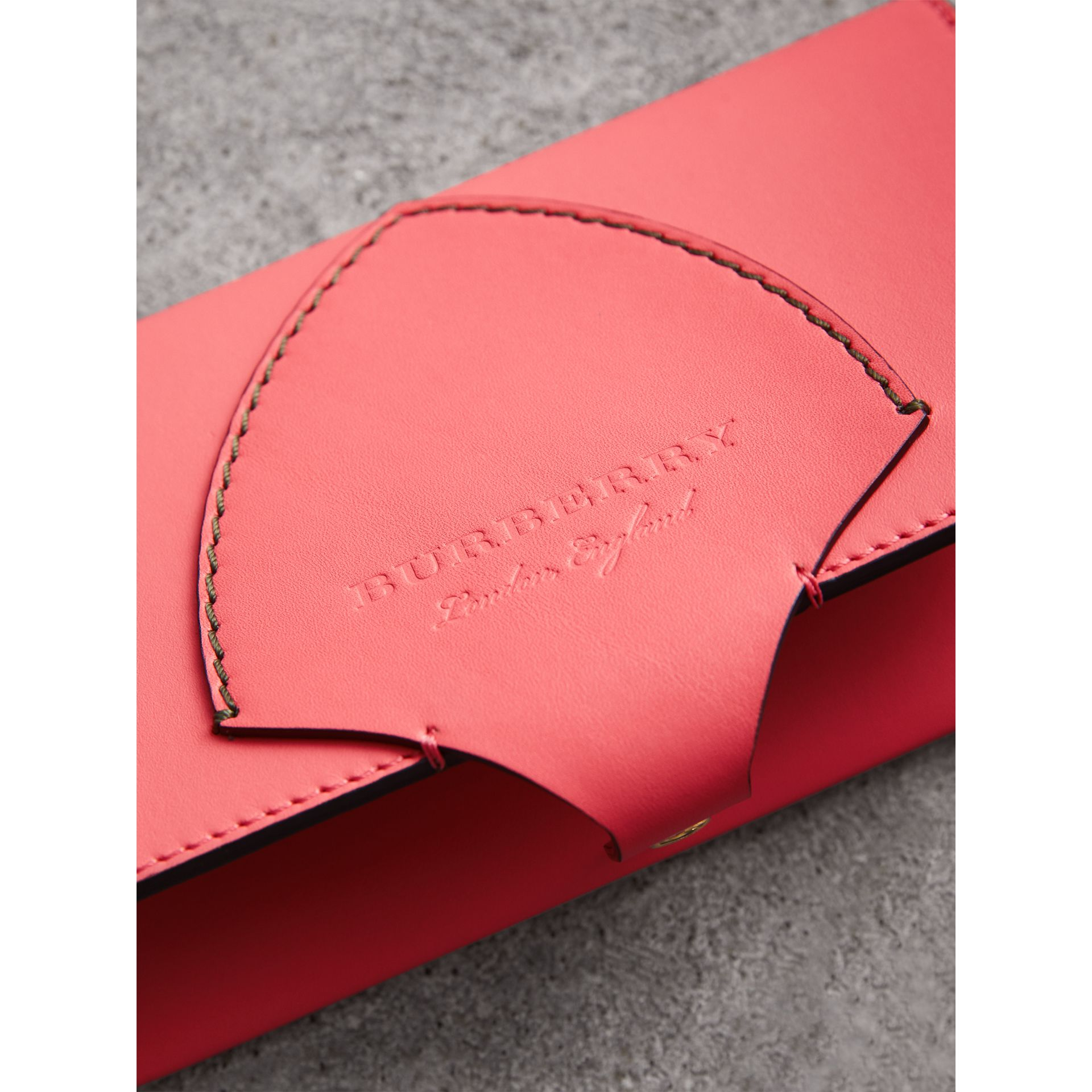 Equestrian Shield Two-tone Leather Continental Wallet in Peony Pink - Women | Burberry - gallery image 1