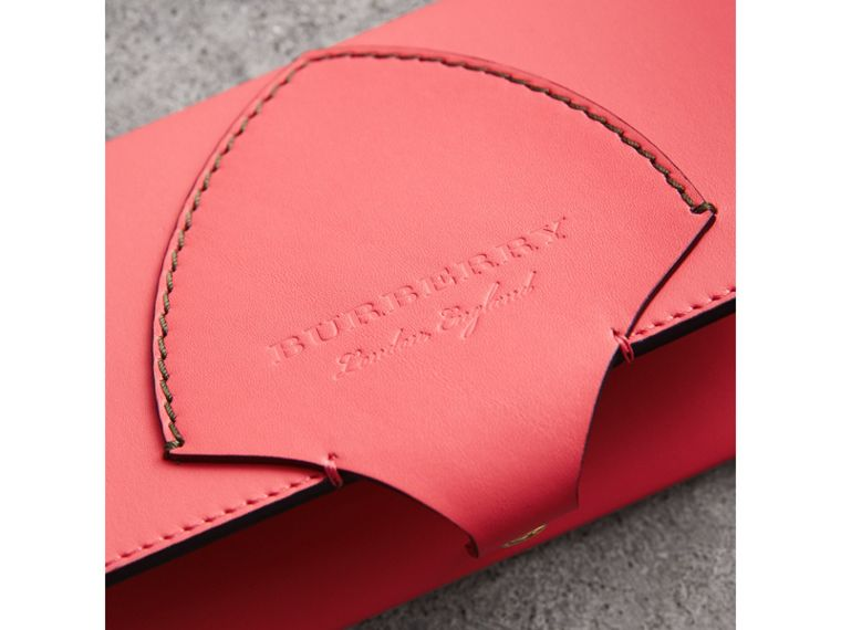 Equestrian Shield Two-tone Leather Continental Wallet in Peony Pink - Women | Burberry United Kingdom - cell image 1