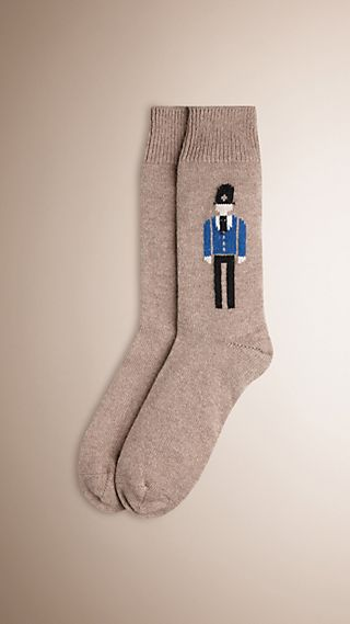 The Bobby Graphic Cashmere Socks