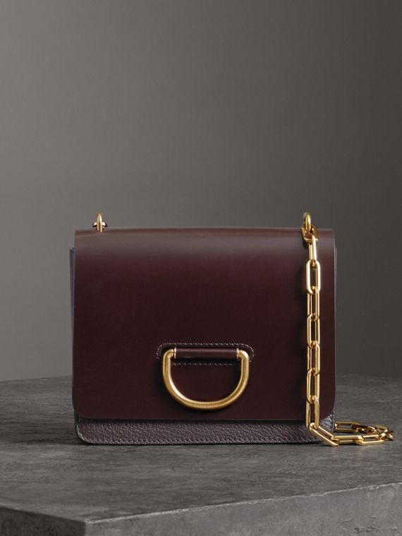 The Small Leather D-ring Bag in Deep Claret