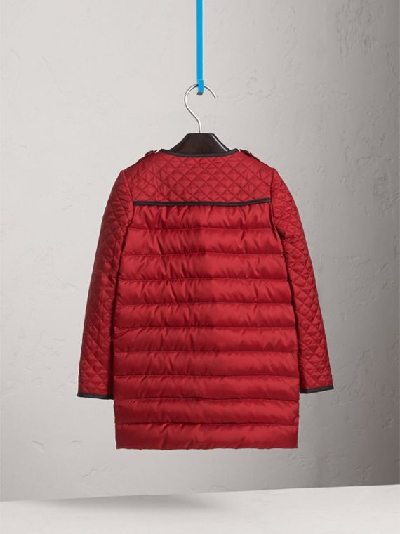 Quilted Down-filled Coat in Crimson Red - Girl | Burberry - cell image 3