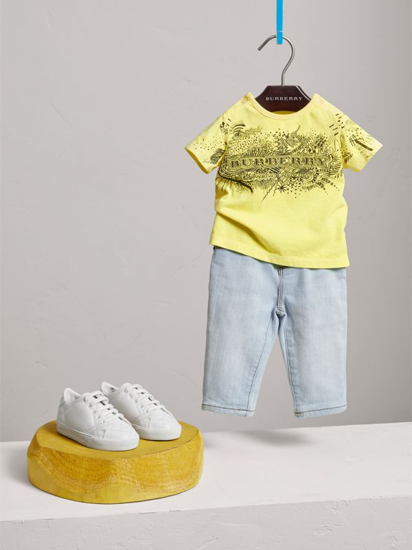 Skinny Fit Stretch Denim Jeans in Light Blue - Children | Burberry - cell image 2