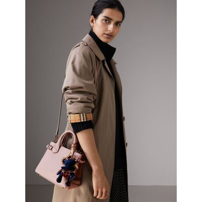 Burberry - The Baby Banner en cuir et coton House check - 4
