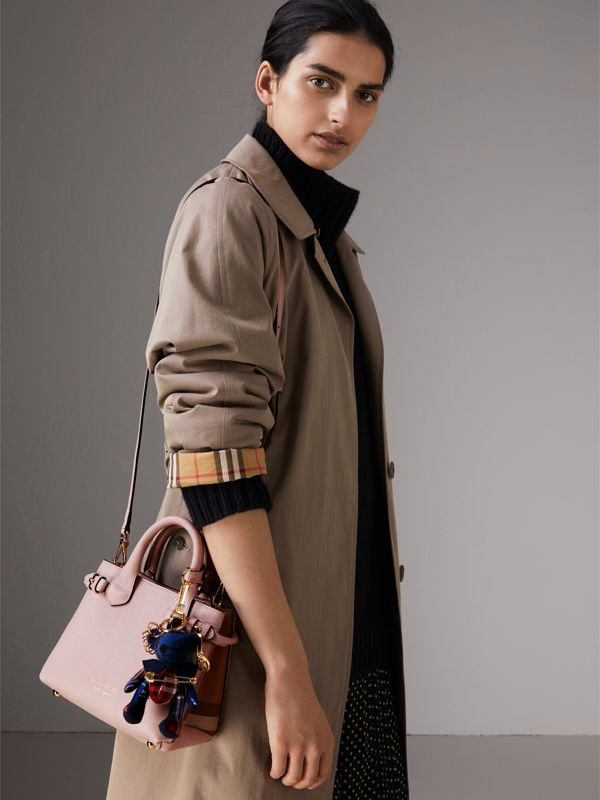 Borsa The Baby Banner in pelle con motivo House check (Orchidea Chiaro) - Donna | Burberry - cell image 3
