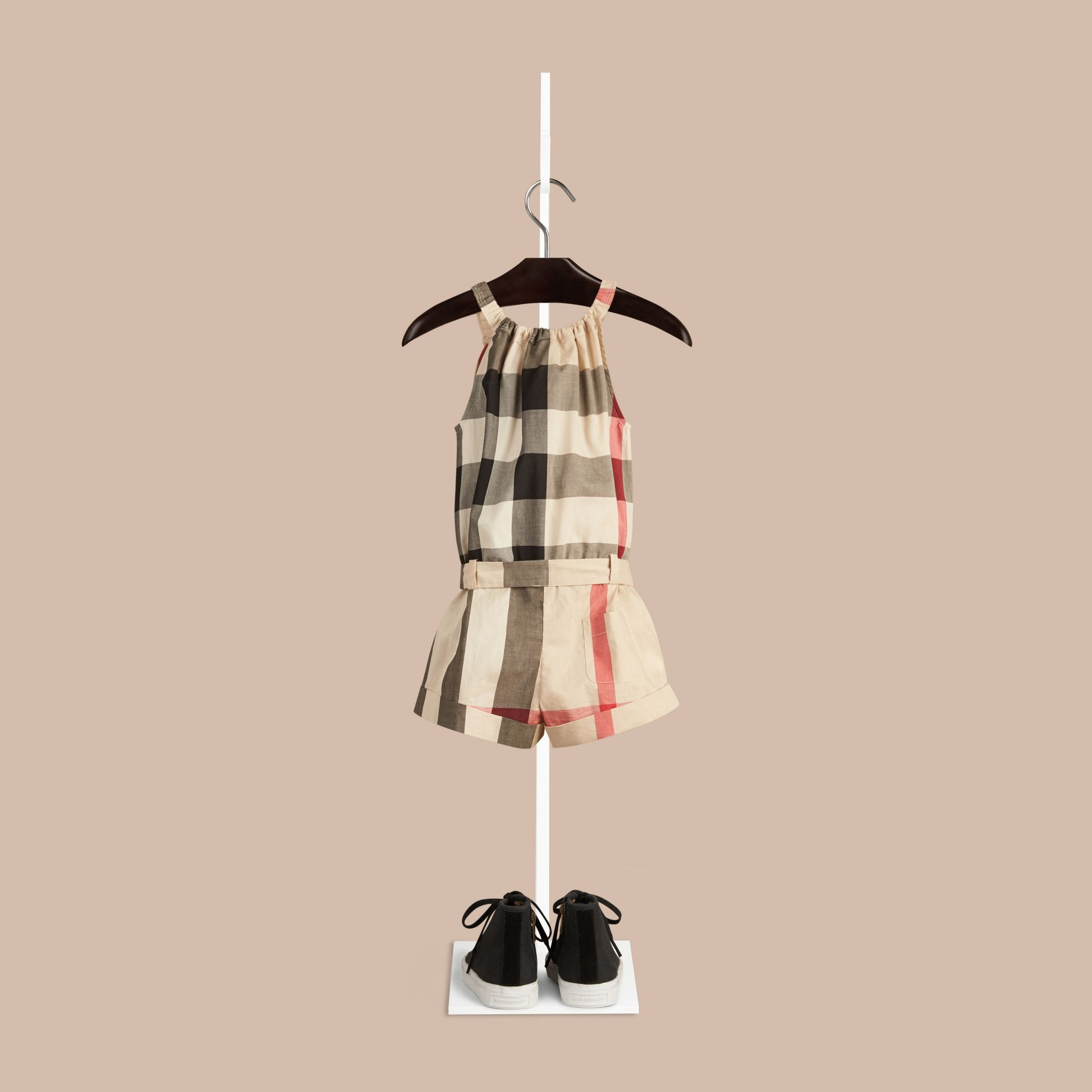 New classic check Check Cotton Playsuit - gallery image 2