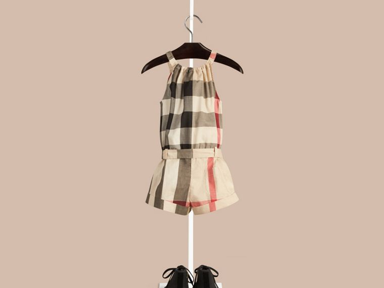 New classic check Check Cotton Playsuit - cell image 1