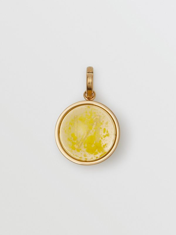 Marbled Resin 'N' Alphabet Charm in Gold/mimosa - Women | Burberry Singapore - cell image 3