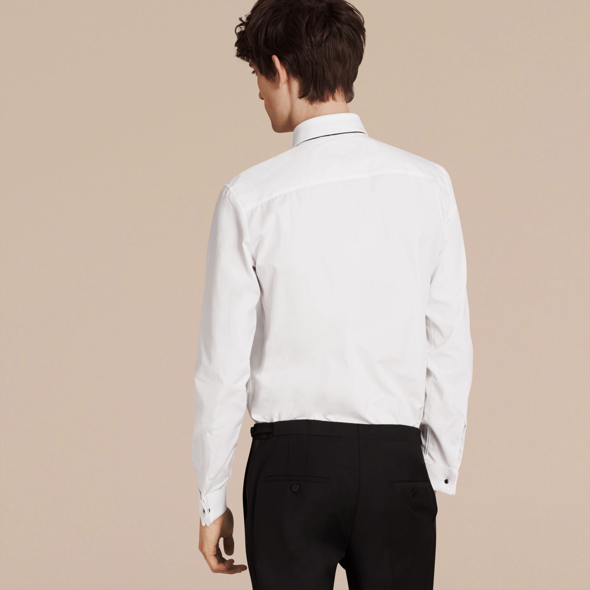 Slim Fit Cotton Poplin Dress Shirt - Men | Burberry Singapore - gallery image 2