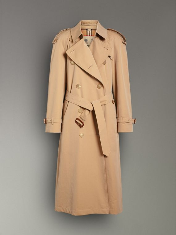The Long Westminster Heritage Trench Coat in Honey - Women | Burberry Canada - cell image 3