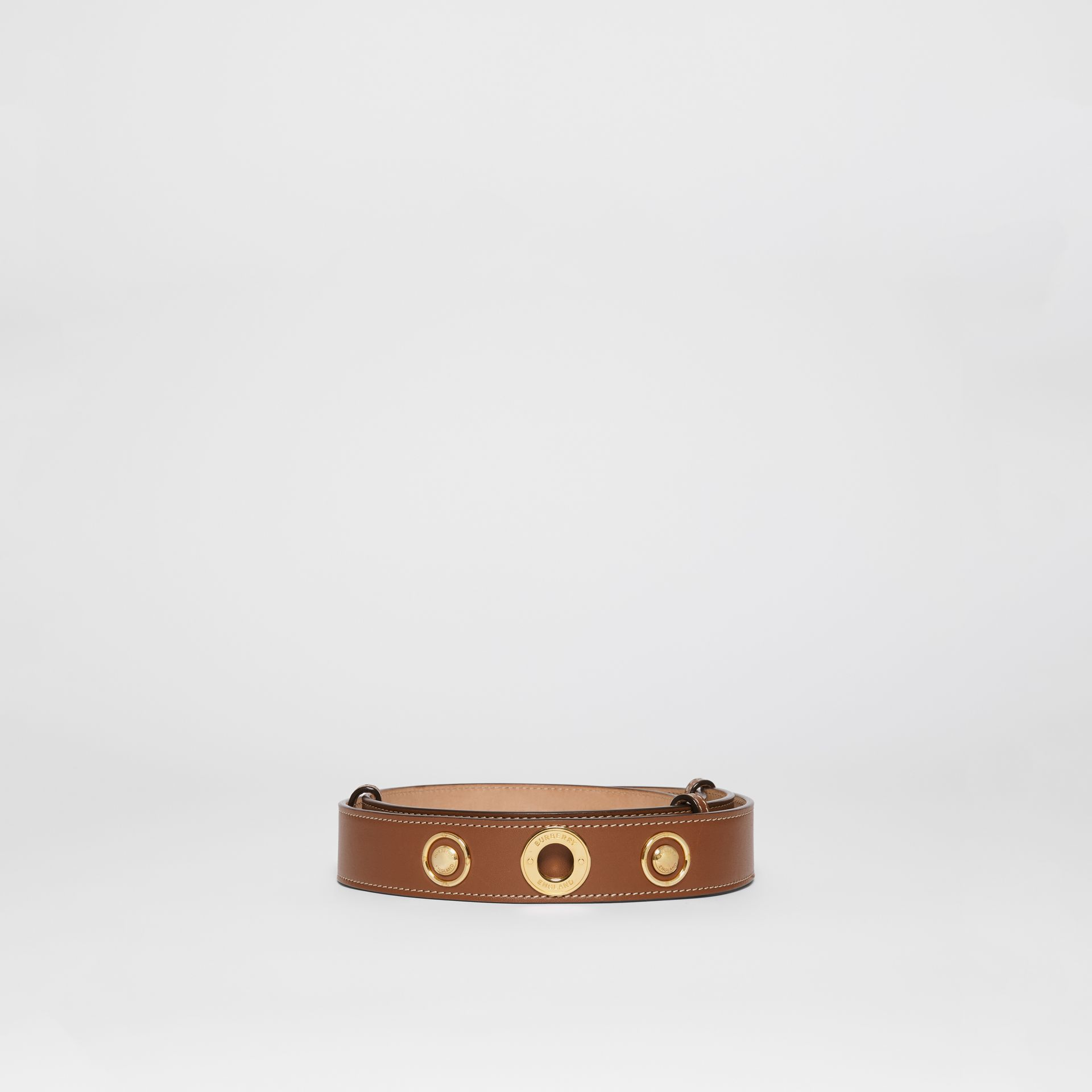 Triple Stud Leather Belt in Tan - Women | Burberry - gallery image 3