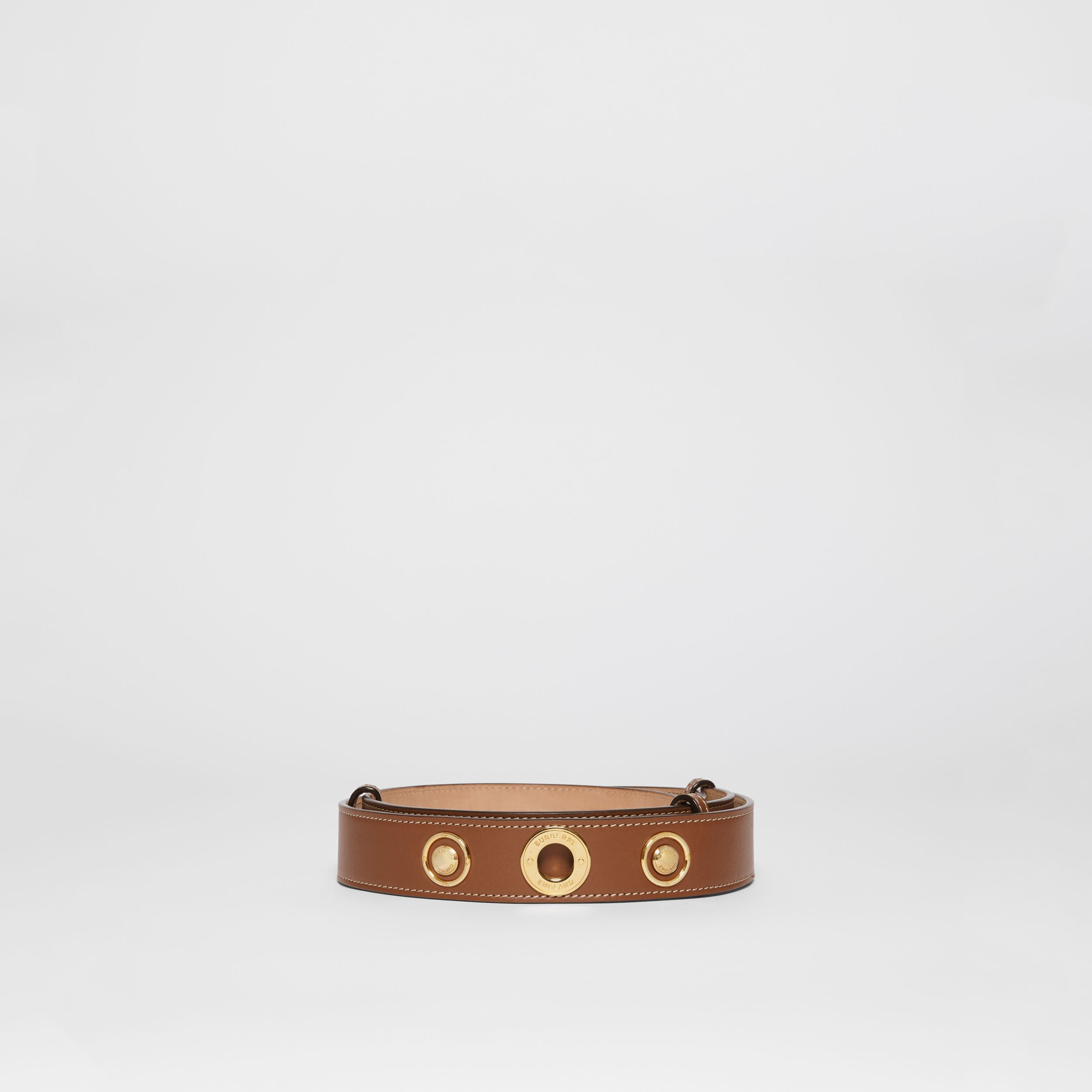 Triple Stud Leather Belt in Tan | Burberry Singapore - 4