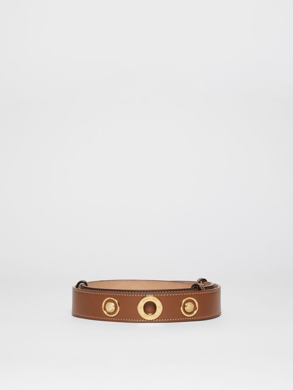 Triple Stud Leather Belt in Tan - Women | Burberry - cell image 3