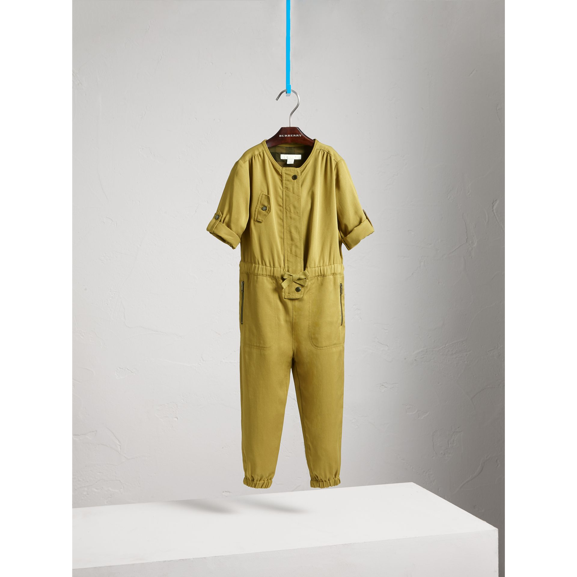 Drawcord Waist Lyocell Jumpsuit - Girl | Burberry - gallery image 3