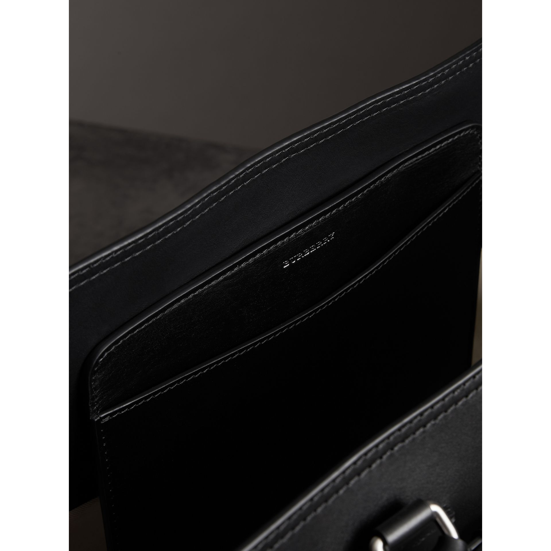 The Medium Canvas and Leather Belt Bag in Black/stone - Women | Burberry Australia - gallery image 3