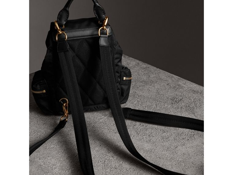 The Crossbody Rucksack in Nylon and Leather in Black - Women | Burberry United Kingdom - cell image 4