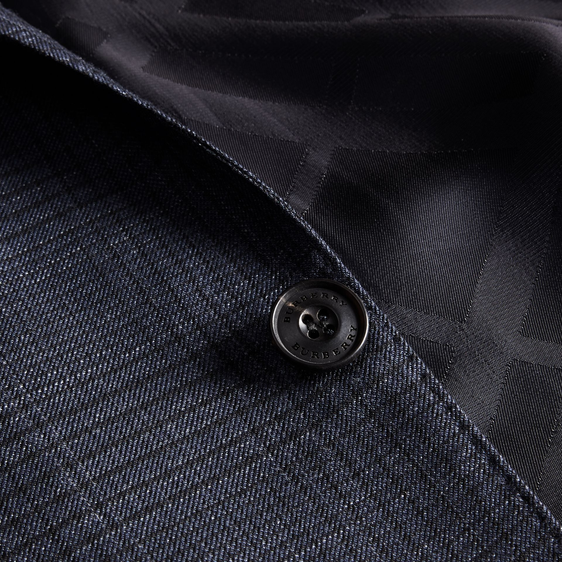 Modern Fit Wool Silk Blend Half-canvas Suit - gallery image 2