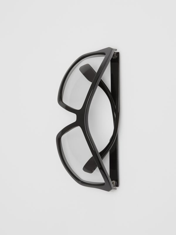 Wrap Frame Sunglasses in Black - Men | Burberry Singapore - cell image 3