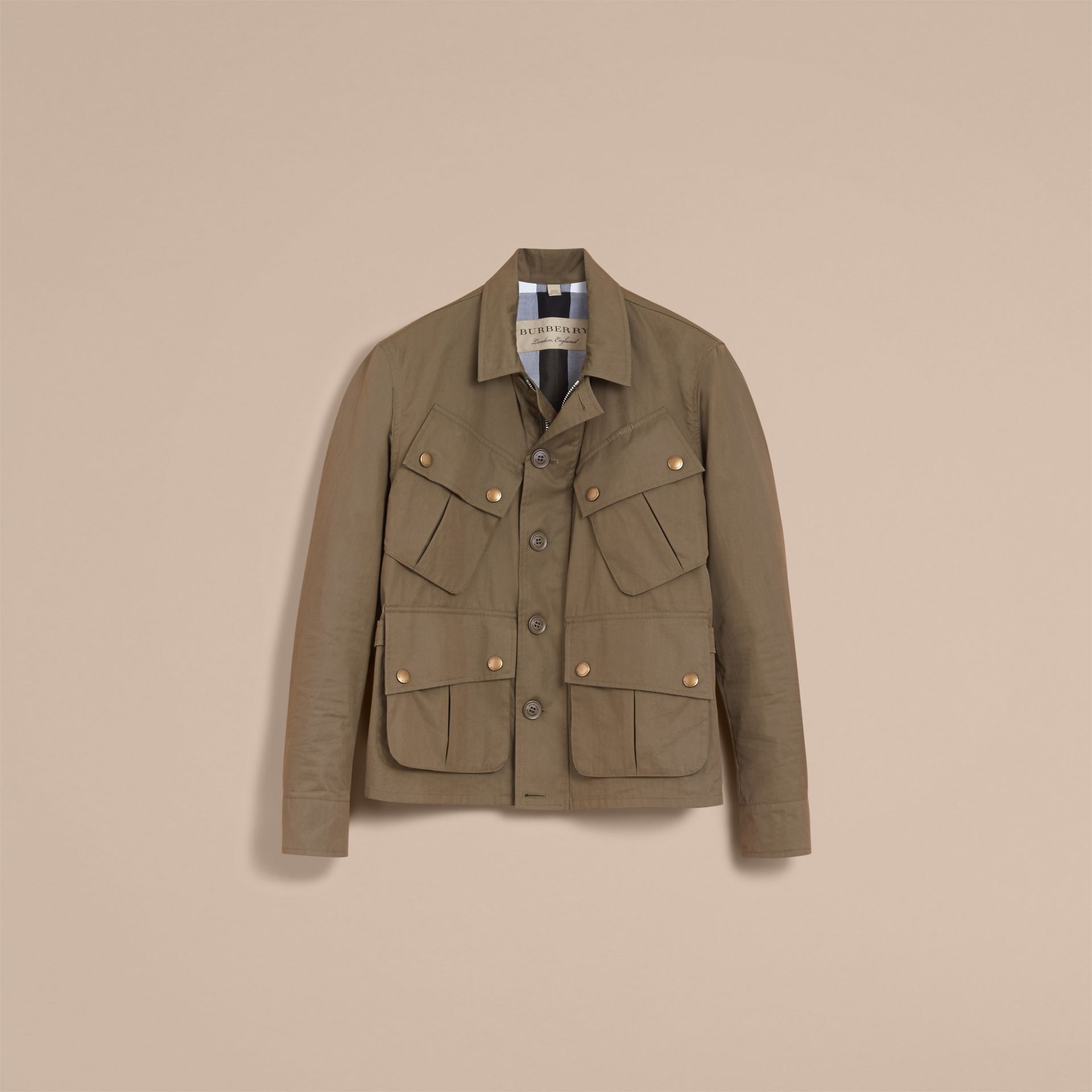 Technical Cotton Canvas Field Jacket - gallery image 4