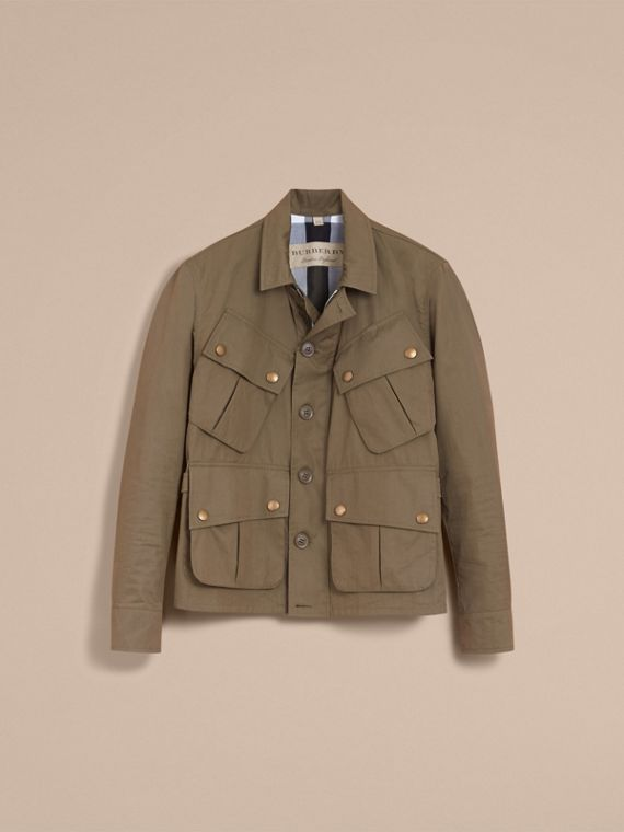 Technical Cotton Canvas Field Jacket - cell image 3