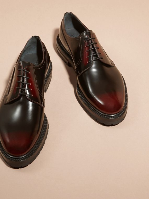 Bordeaux Burnished Leather Derby Shoes Bordeaux - cell image 2