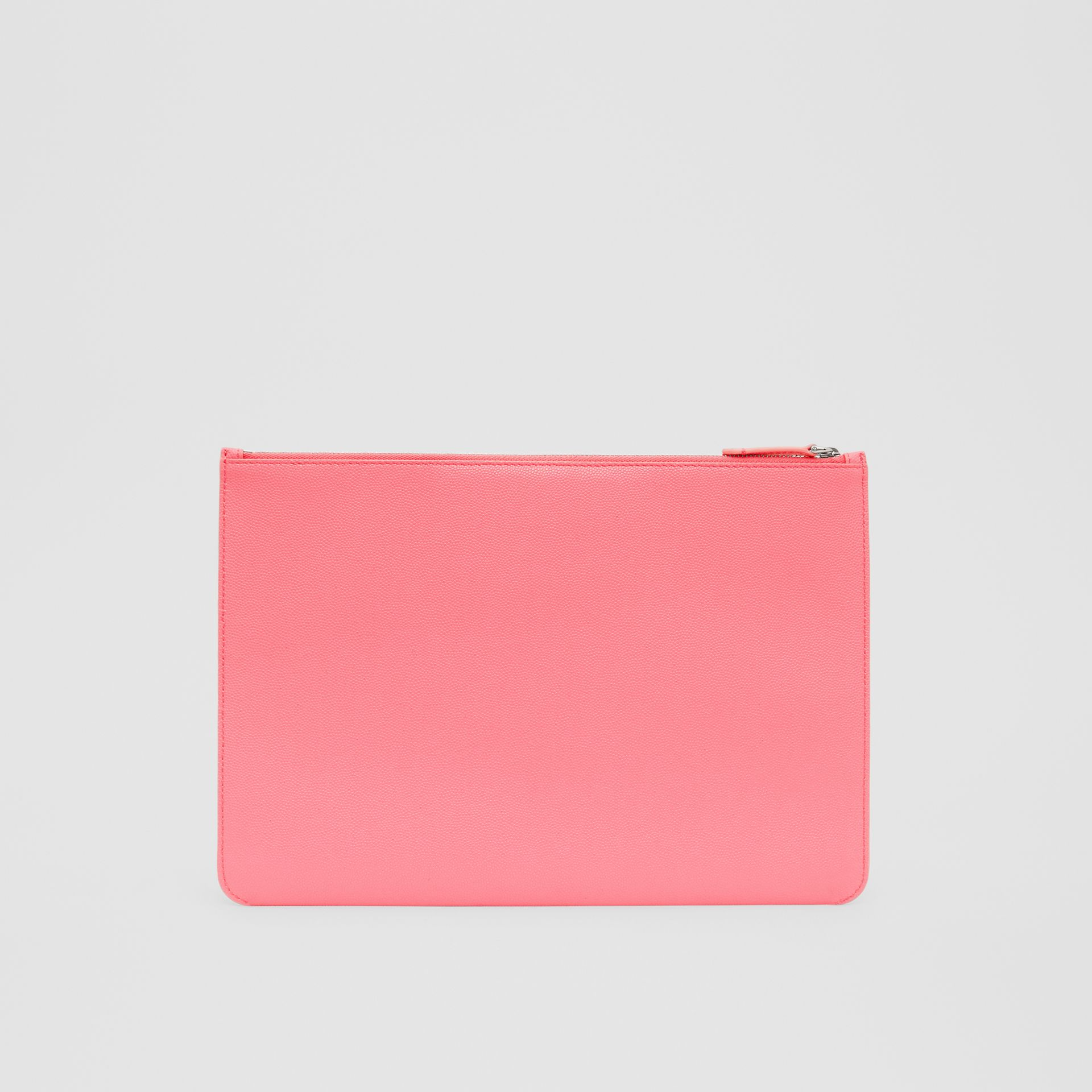 Monogram Motif Grainy Leather Pouch in Candy Floss | Burberry - gallery image 6