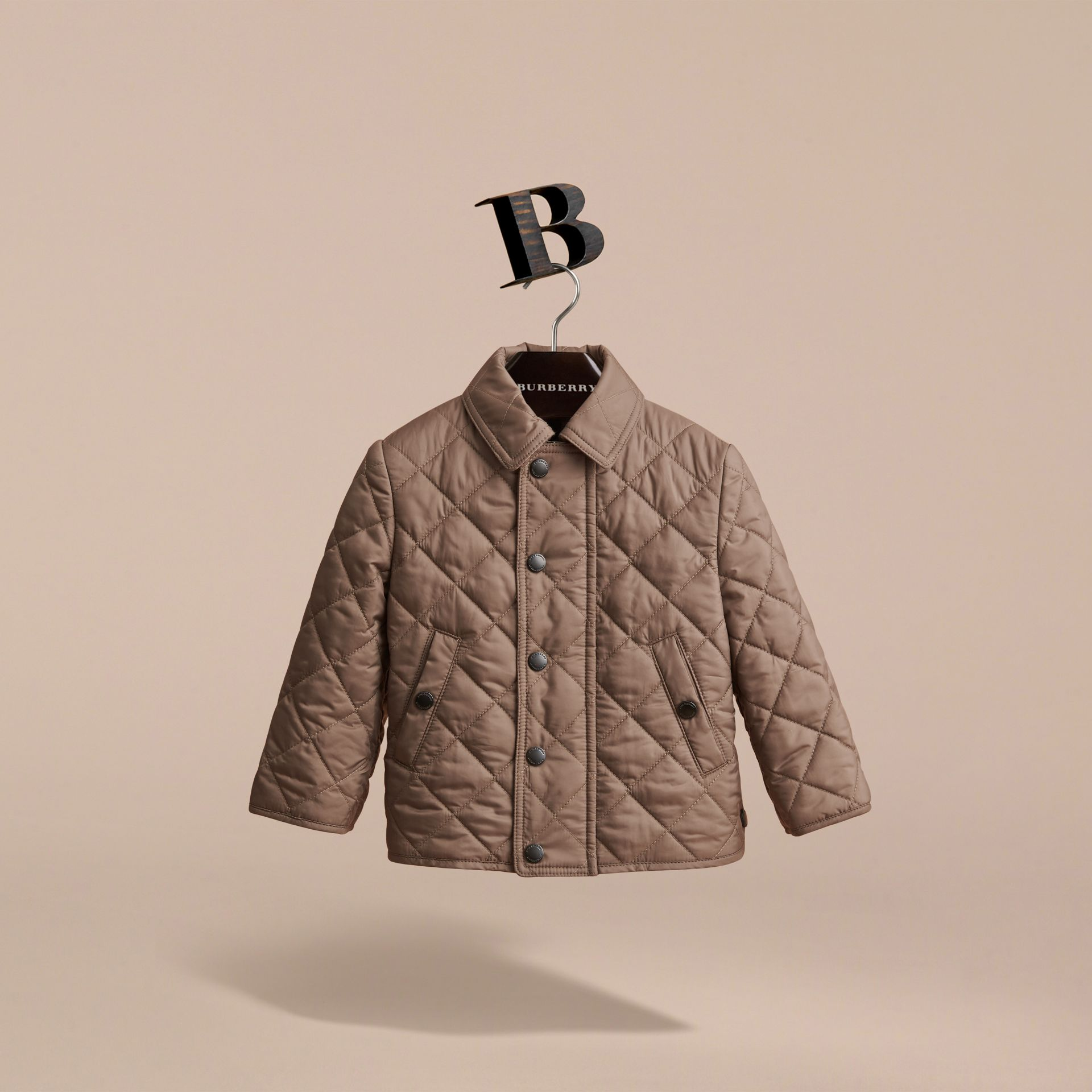 Lightweight Quilted Jacket in Dark Mushroom | Burberry Singapore - gallery image 3