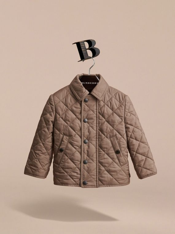 Lightweight Quilted Jacket in Dark Mushroom | Burberry Singapore - cell image 2