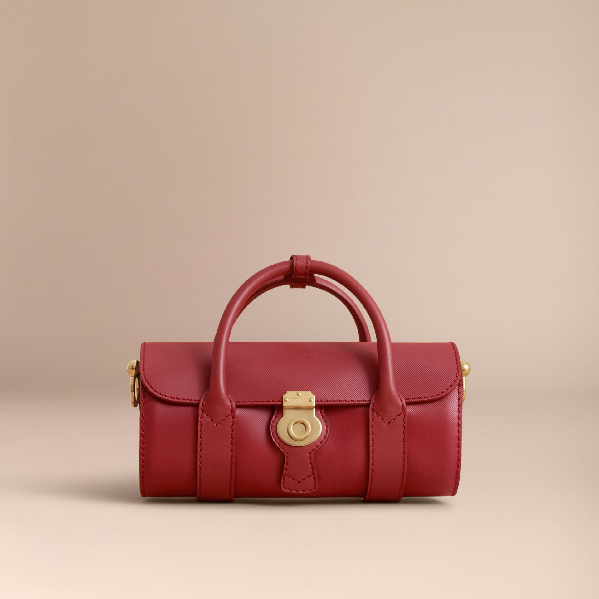 The Small DK88 Barrel Bag in Antique Red - Women | Burberry - gallery image 6