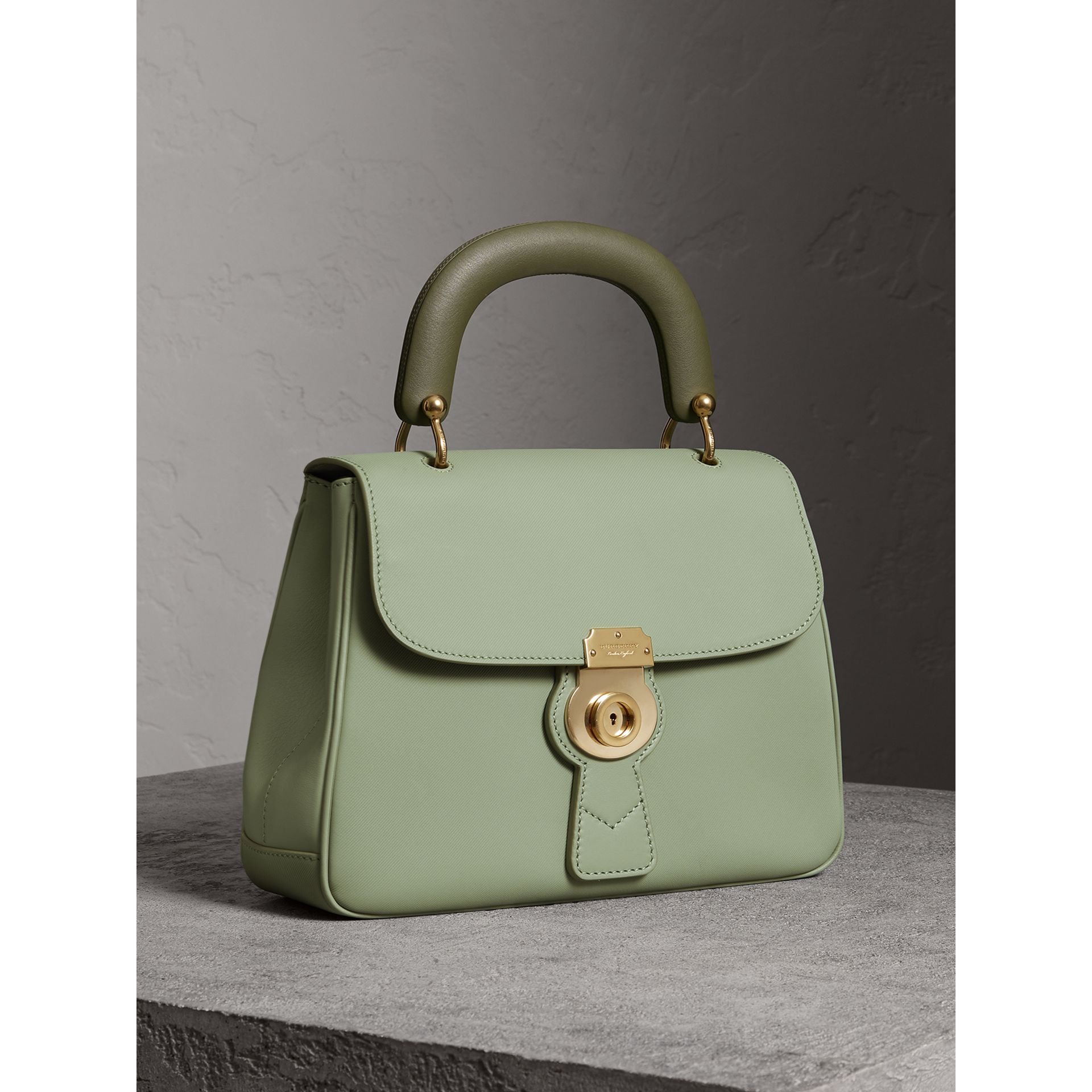 The Medium DK88 Top Handle Bag in Celadon Green - Women | Burberry United States - gallery image 7