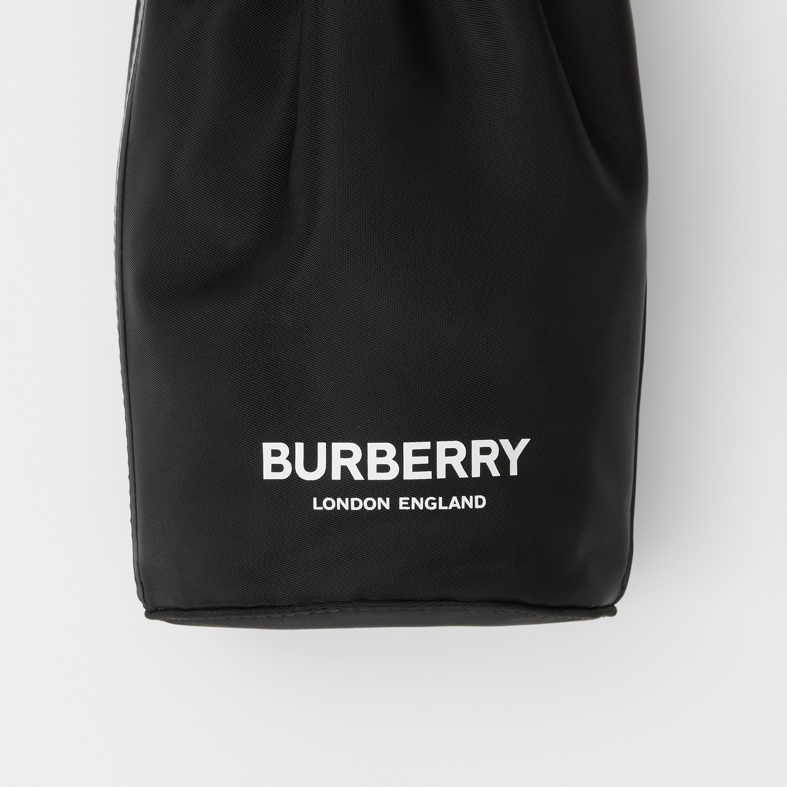 Logo Print ECONYL® Water Bottle Holder in Black/white | Burberry - 2