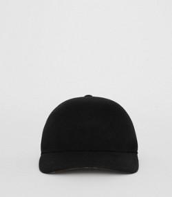 0650b40a60c Felted Wool Baseball Cap in Black