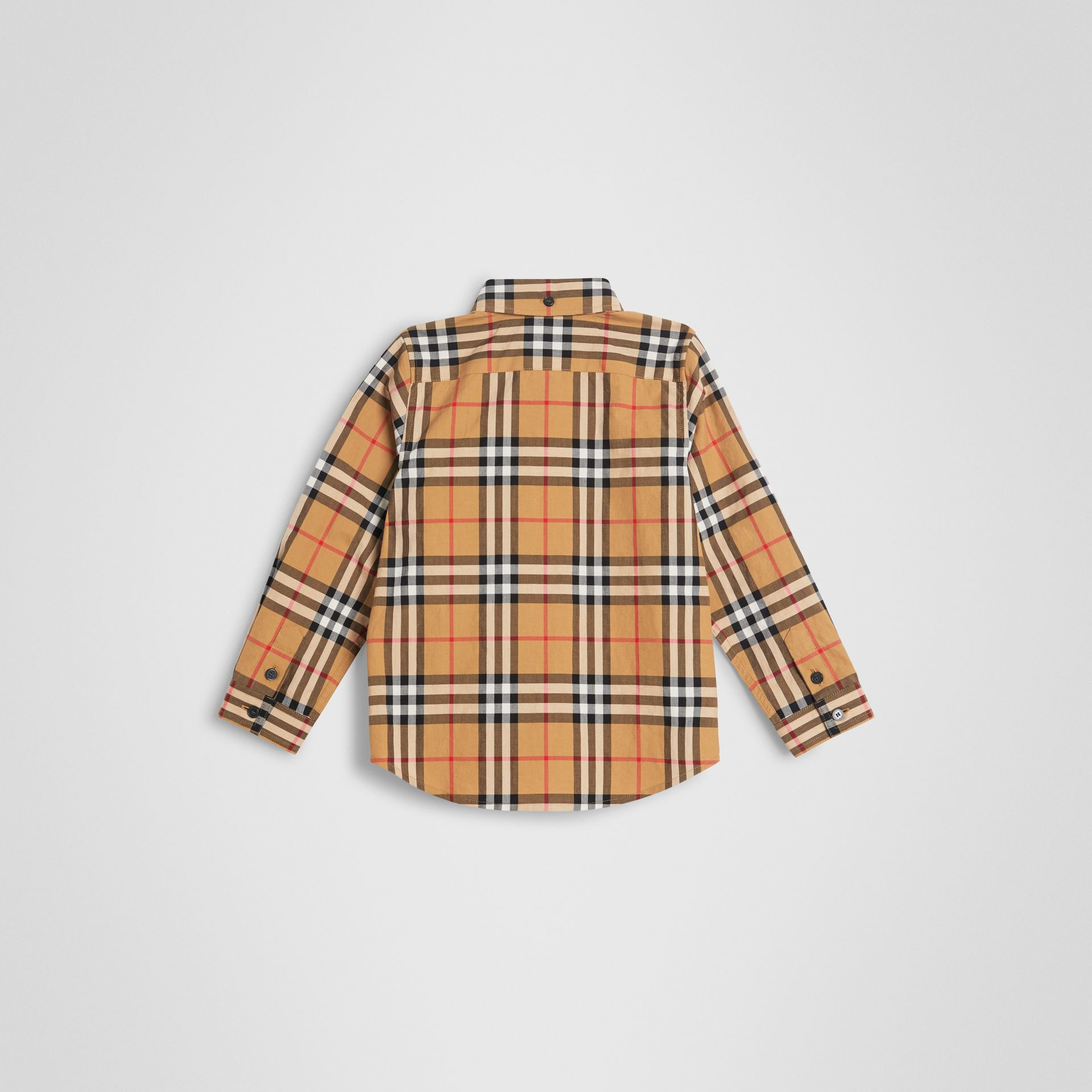 Button-down Collar Vintage Check Shirt in Antique Yellow | Burberry United Kingdom - gallery image 3