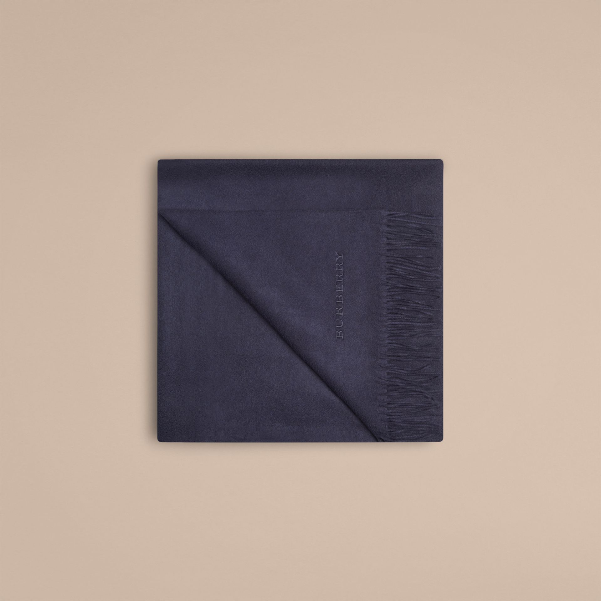 Cashmere Blanket in Navy - gallery image 4