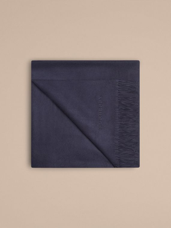 Cashmere Blanket in Navy | Burberry Canada - cell image 3