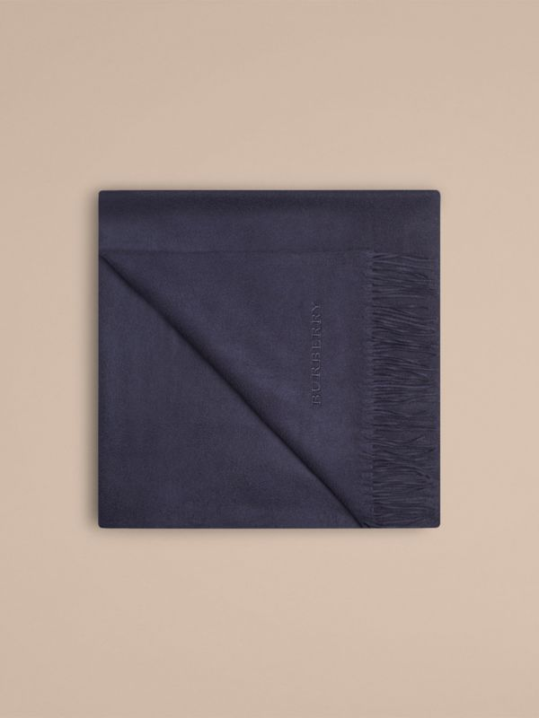 Cashmere Blanket in Navy | Burberry - cell image 3