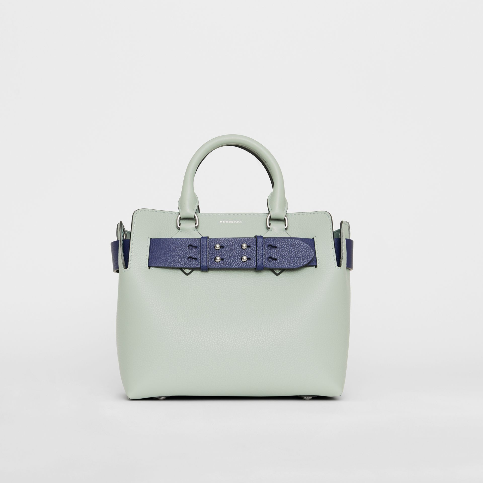 The Small Leather Belt Bag in Grey Blue - Women | Burberry United Kingdom - gallery image 0