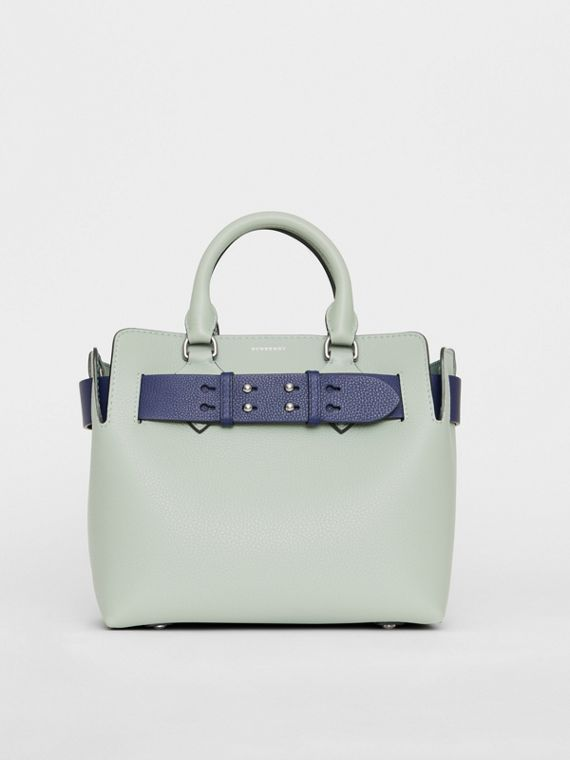 Borsa The Belt piccola in pelle (Blu Grigio)