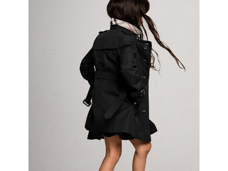 The Sandringham Trench Coat in Black - Girl | Burberry Australia - cell image 4