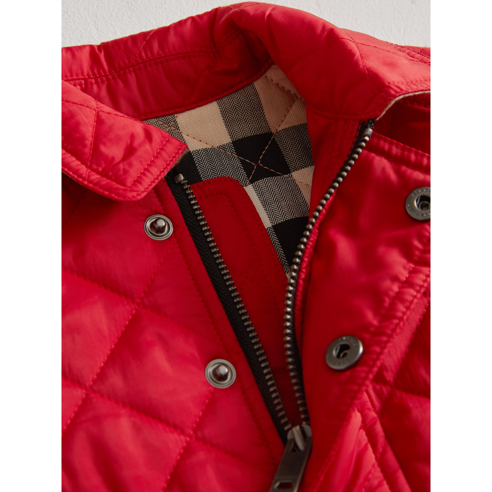 Lightweight Quilted Jacket in Bright Cherry Red | Burberry United Kingdom - gallery image 1