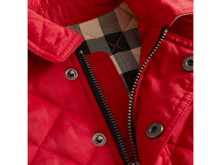 Lightweight Quilted Jacket in Bright Cherry Red | Burberry - cell image 1