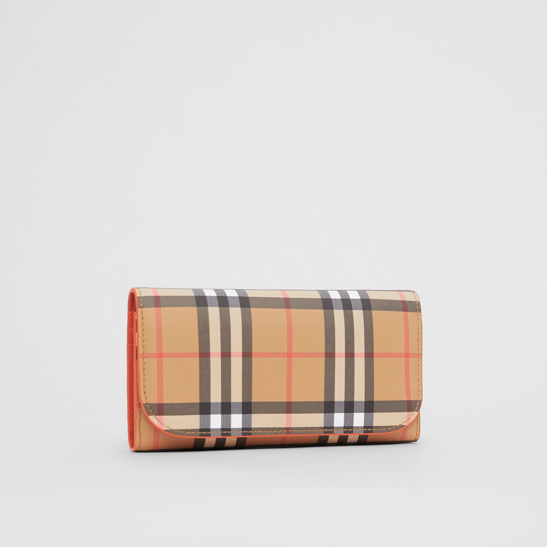 Vintage Check Continental Wallet with Zip Card Case in Clementine - Women | Burberry - gallery image 4