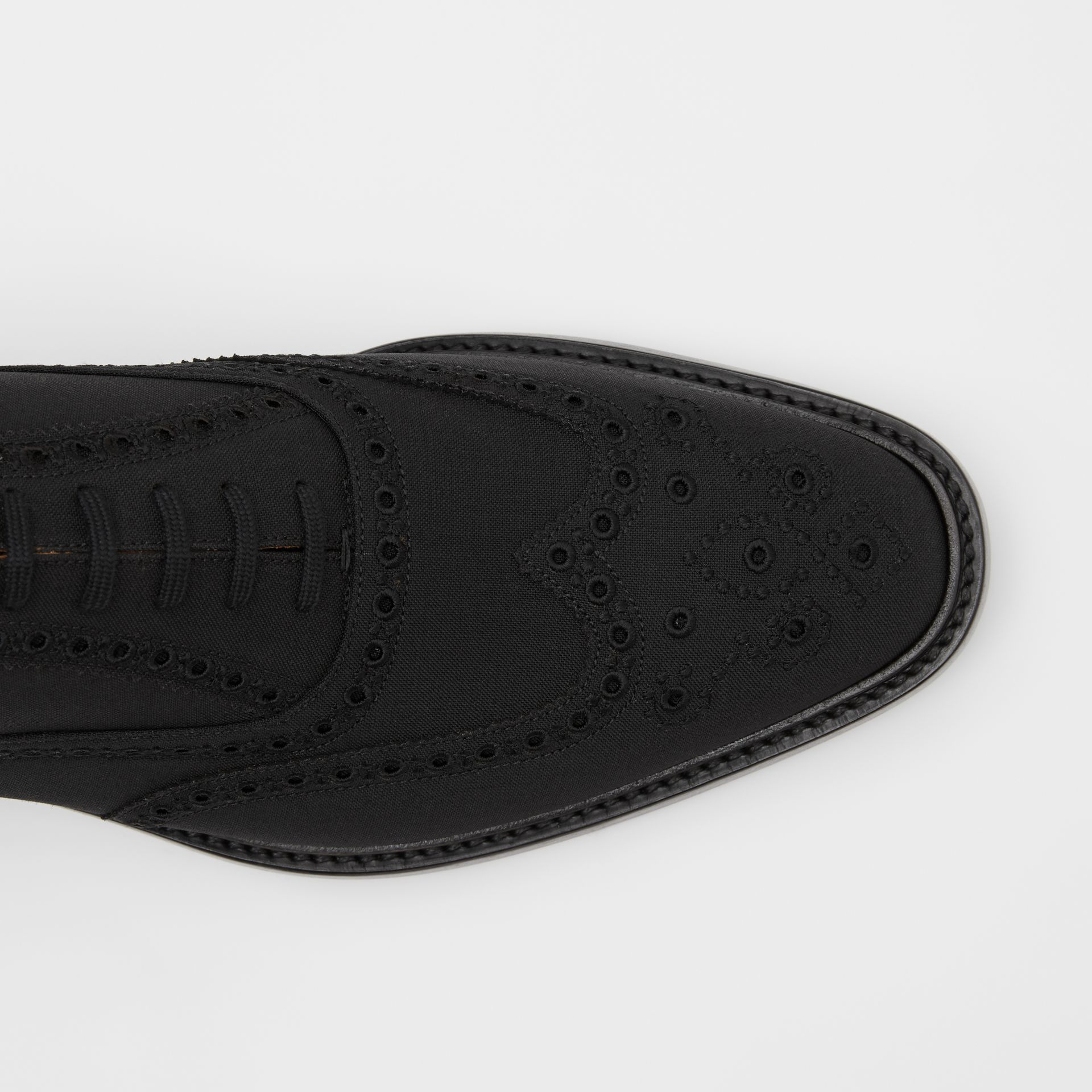 Studded Mohair Wool Brogues in Black | Burberry - gallery image 1