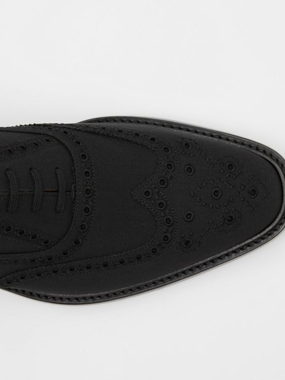 Studded Mohair Wool Brogues in Black | Burberry United Kingdom - cell image 1