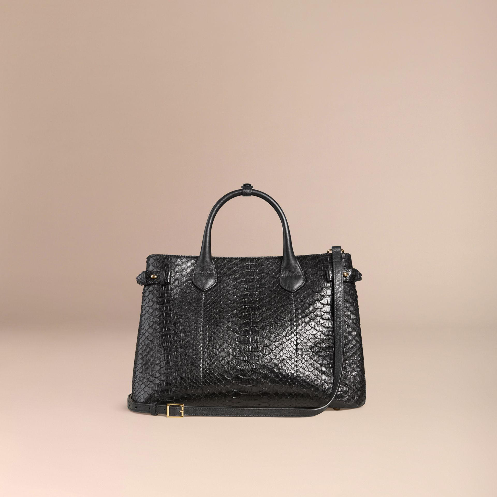 Sac The Banner medium en python (Noir) - Femme | Burberry - photo de la galerie 3