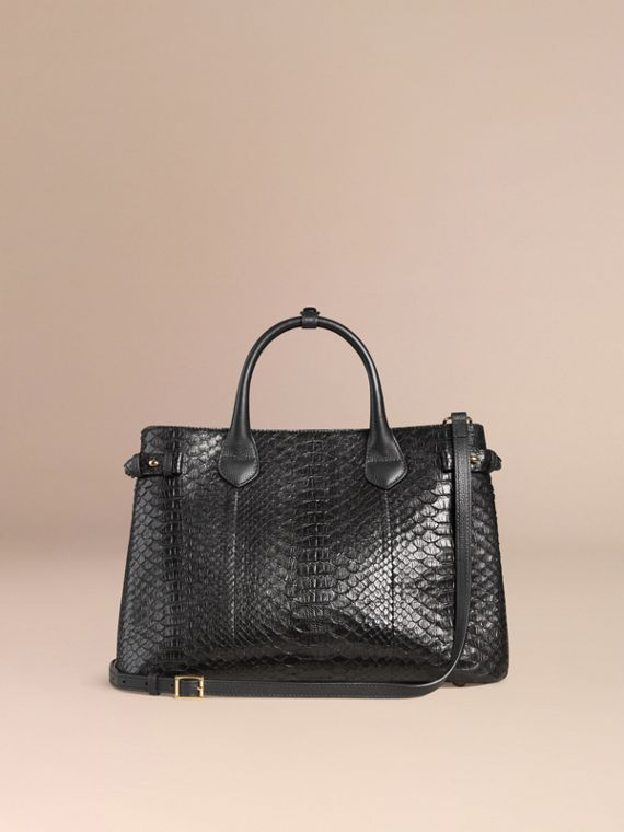 Sac The Banner medium en python (Noir) - Femme | Burberry - cell image 3