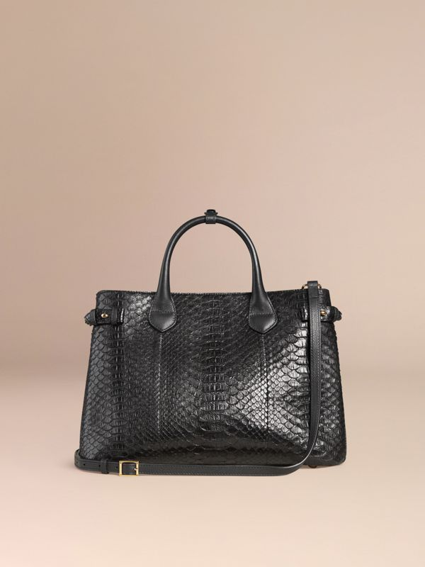 The Medium Banner in Python in Black - Women | Burberry Australia - cell image 3