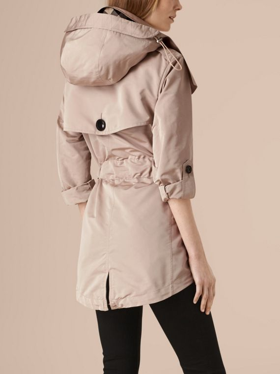 Stone Showerproof Trench Coat with Detachable Hood - cell image 2