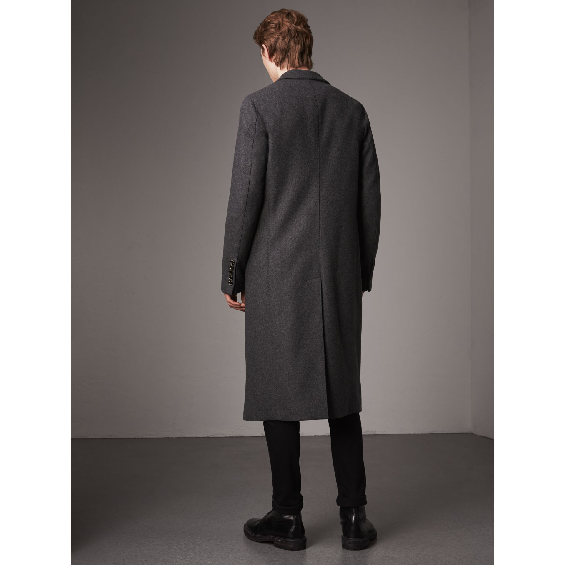 Melange Wool Blend Coat in Dark Grey - Men | Burberry United States - gallery image 2